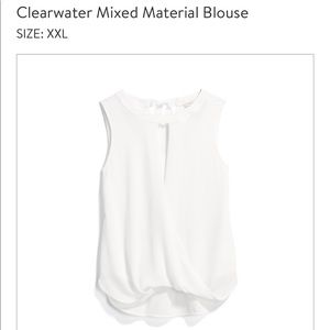 41 Hawthorn Clearwater Mixed Material Blouse/Tank